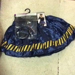 Police tutu kit, contains 1 tutu, 1 headband.